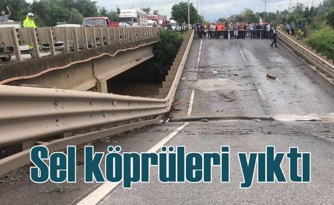 Ordu'yu sel vurdu, köprüler yıkıldı, 7 ilçede afet var