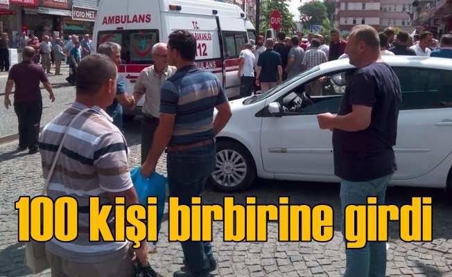 Samsun'da 100 kişi sopalarla birbirine girdi