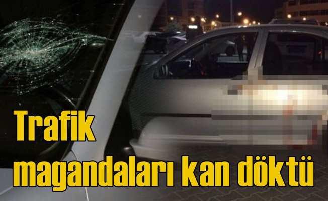 Trafik magandaları bıçaklarla saldırdı, 1 ölü var