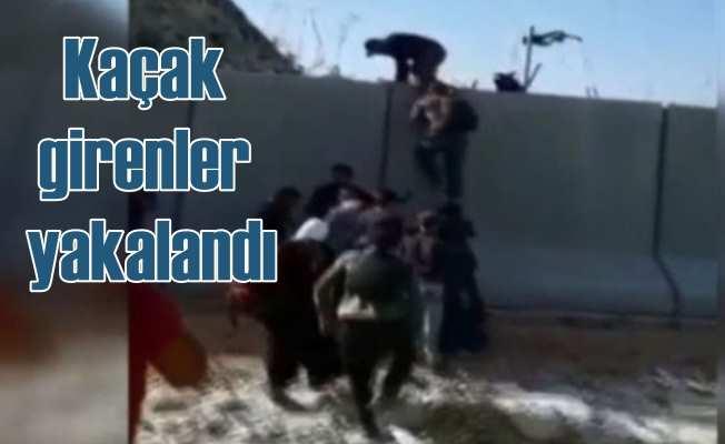 Beton duvarı aşan Suriyeli'ler yakalandı: Sınırda teyakkuz