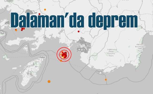 Dalaman'da deprem oldu 4.2; Akdeniz beşik gibi sallanıyor