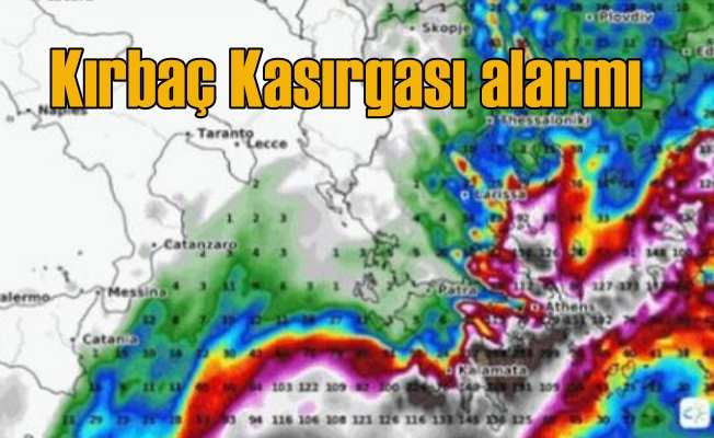 Kırbaç Kasırgası geliyor; Ege ve Akdeniz Bölgeleri'nde kasırga alarmı