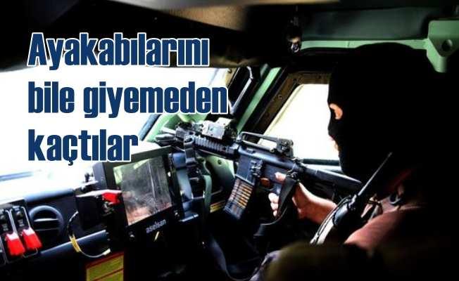 PKK'lı teröristler ayakkabılarını bile giyemeden kaçtı