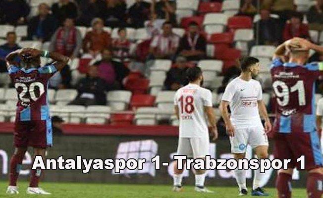 Antalyaspor ve Trabzonspor puanları paylaştı