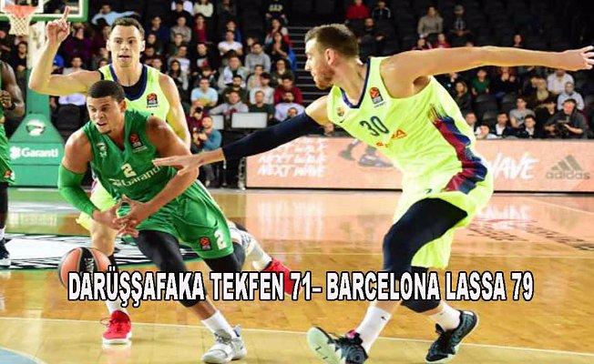 Darüşşafaka Tekfen evinde Barselona Lassa'ya yenildi