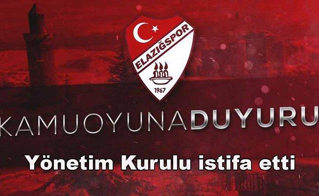 Elazığspor'da maddi sıkıntılar yüzünden yönetim kurulu istifa etti