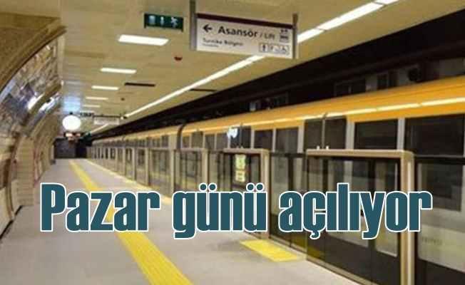 Üsküdar-Çekmeköy metrosu pazar günü açılıyor