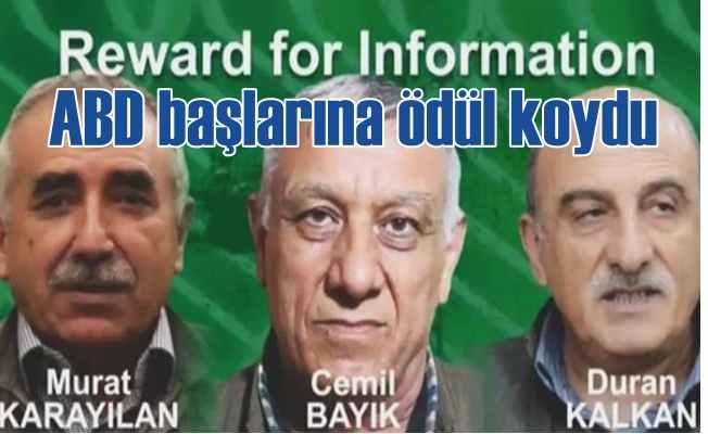 ABD'nin PKK komedisi, kolkola gezdiği teröristlerin başına ödül koydu