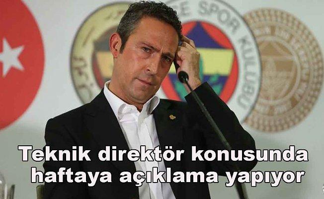 Ali Koç, önümüzdeki hafta yeni hoca ile ilgili açıklama yapacak.