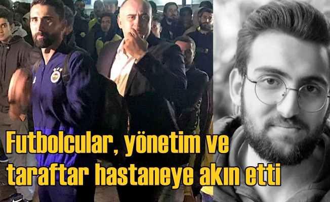 Fenerbahçe yönetimi, futbolcularla, hastaneye koştu