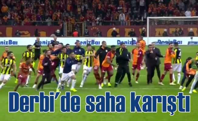 Galatasaray 2- Fenerbahçe 2 : Derbi sonrası kavga çıktı