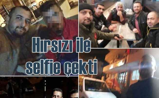 Hırsızı ile selfie çektirdi, ardından polise teslim etti