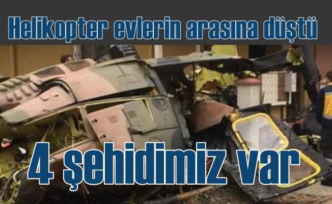 İstanbul'da askeri helikopter düştü; 4 Şehidimiz var