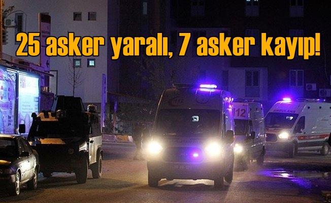 Şemdinli'de arızalı top mermisi infilak etti: 25 asker yaralı 7 asker kayıp
