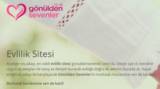 Türkiye'nin İslami Evlilik Sitesi ; Gönülden Sevenler