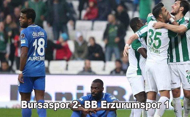 Bursaspor zorlu mücadeleden galip ayrıldı