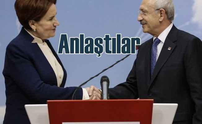 CHP İYİ Parti ittifak için anlaştı