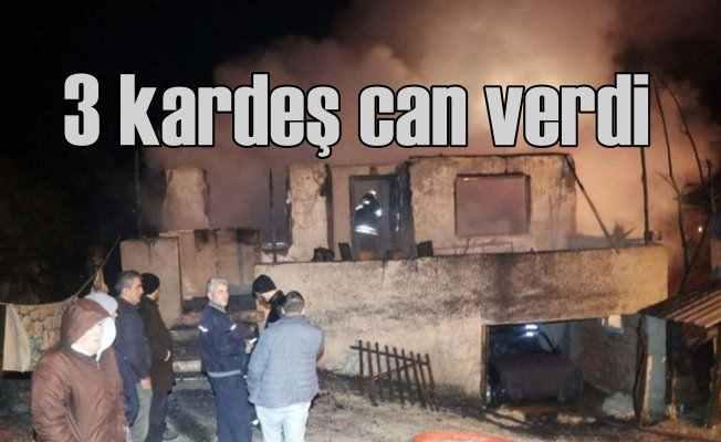Düzce'de yangın; 3 çocuk feci şekilde can verdi...