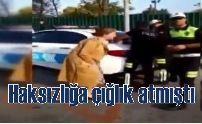 Trafik polisine çığlık atan video görüntülerine soruşturma
