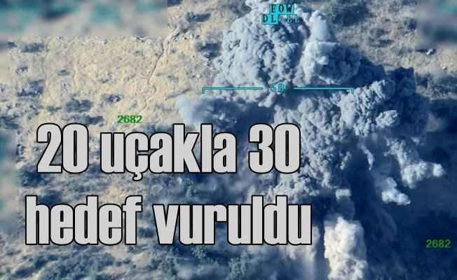 TSK; Sincar'da 30 hedef vuruldu