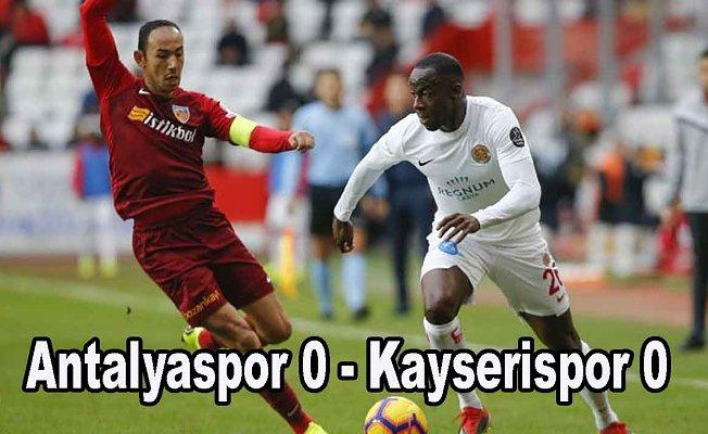 Antalyaspor ve Kayserispor puanları paylaştı