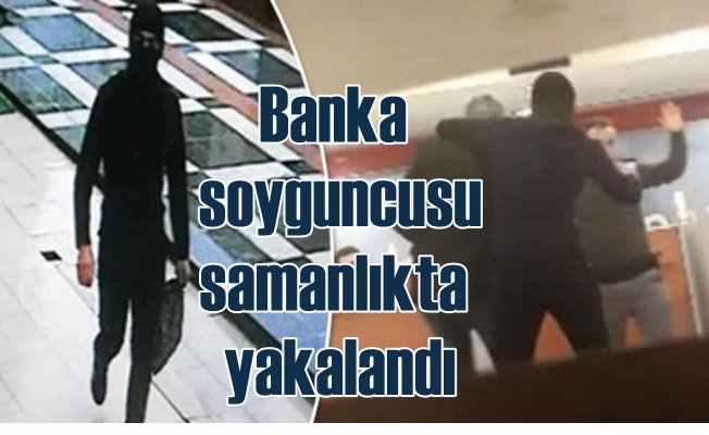 Banka soyguncusu hava değişimine gelen asker çıktı