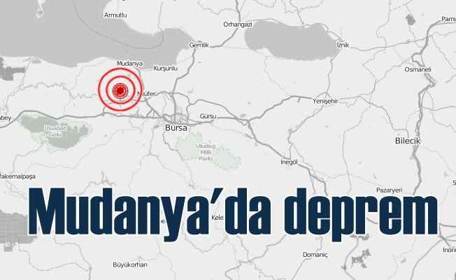 Bursa Mudanya'da deprem, Mudanya 4.0 ile sallandı