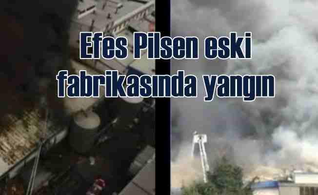 Efes Pilsen'in Merter'deki fabrikasında yangın