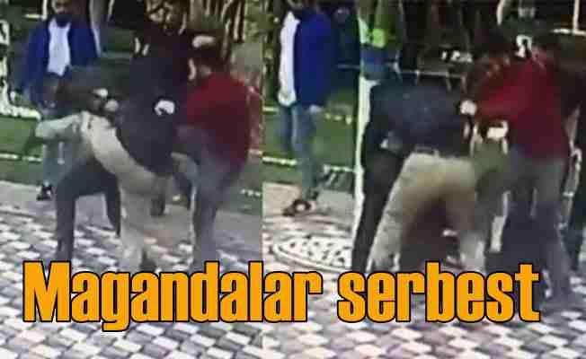 Genç kıza laf attılar, erkek arkadaşına saldırdılar ama...