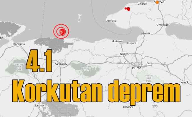 Karacabey'de deprem; Bursa 4.1 ile sallandı