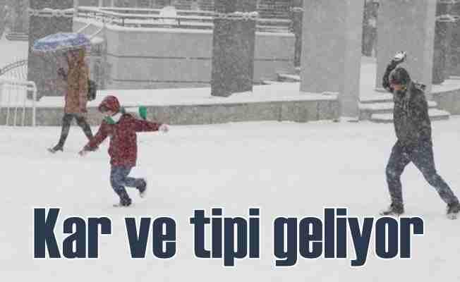 Meteoroloji bu illeri uyardı; Kar ve tipi geliyor