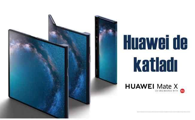 5G katlanabilir akıllı telefon: HUAWEI Mate X