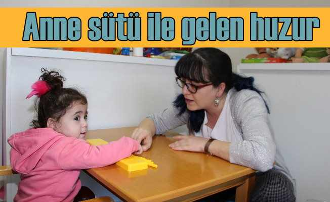 Anne sütü çocuğa huzur veriyor!