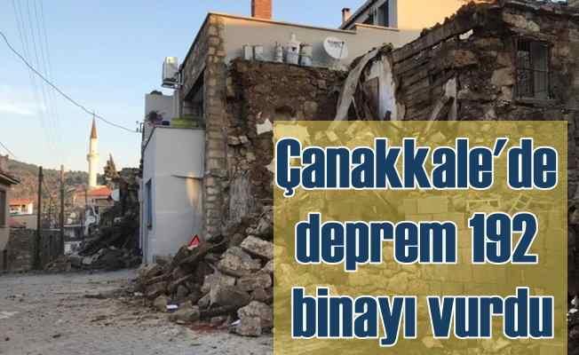 Çanakkale depremi; 5.4 192 binaya hasar verdi