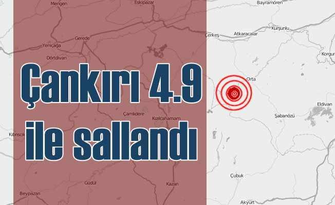 Çankırı'da deprem; Ankara sallandı, 4.9