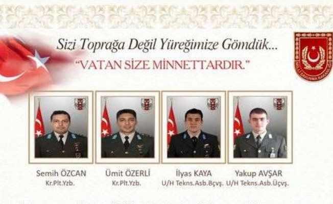 Çekmeköy'de helikopter kazası; Şehitlerin isimleri açıklandı