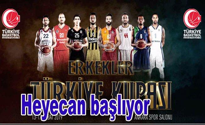 Erkekler Türkiye Kupası heyecanı başlıyor