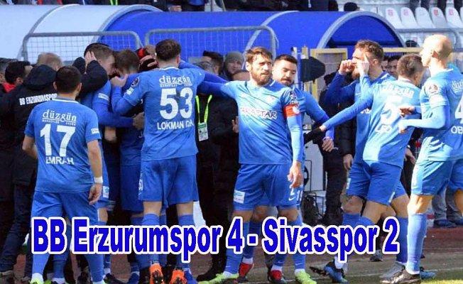 Erzurumspor gol düellosunu kazandı