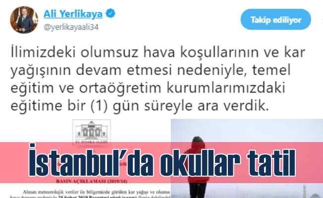 İstanbul, Kırklareli ve Çanakkale'de okullar tatil
