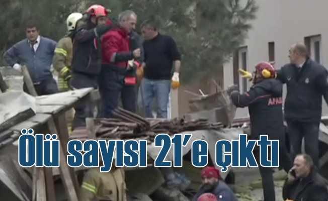 Kartal'da çöken binada ölü sayısı 21'e çıktı