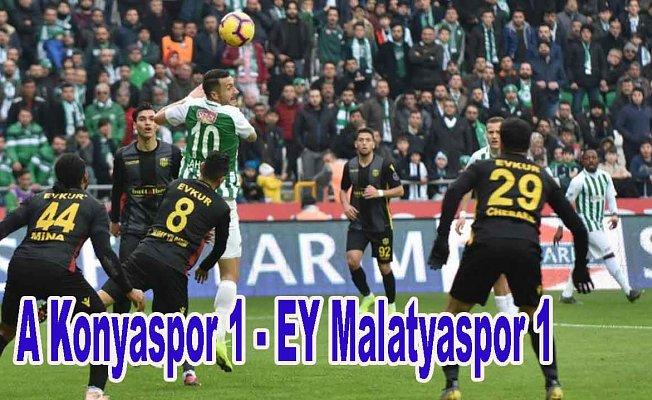 Konya, Malatya puanları paylaştı