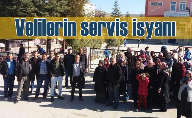 Ortakarören'de servis krizi büyüyor:Velilerin servis isyanı