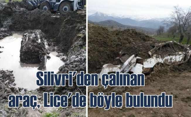 PKK'lı teröristlerin çaldığı araç toprağa gömülü bulundu