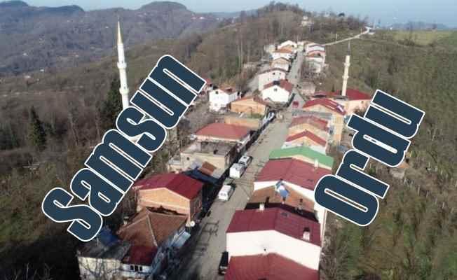 Samsun Ordu il sınırı köyü ortadan ikiye böldü