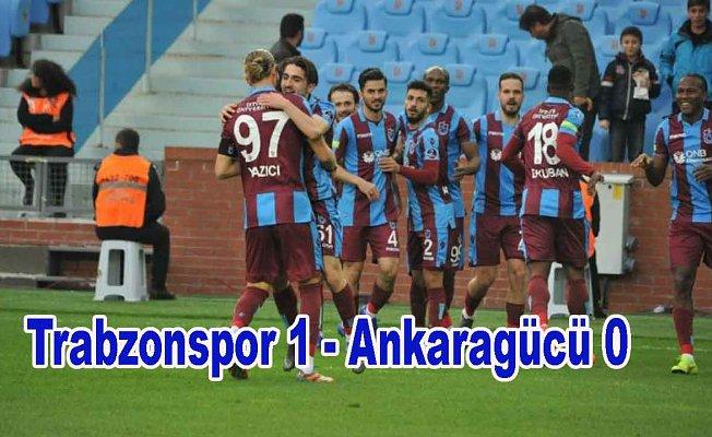 Trabzonspor tek golle 3 puanı aldı
