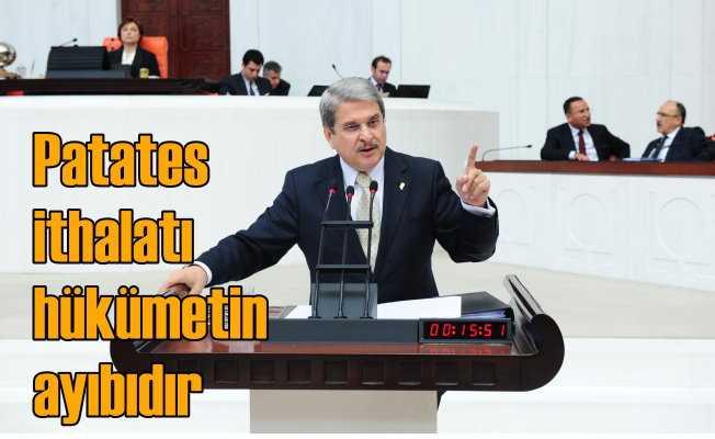 Aytun Çıray: Patates ithalatı AKP'nin ayıbıdır