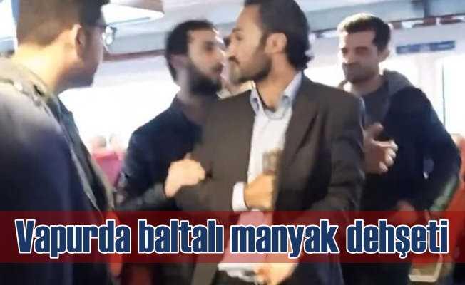 Baltasıyla İzmir'den İstanbul'a vapur kaçırmaya kalktı