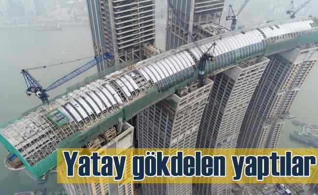 Çin'de yapay gökdelen; 250 metre uzunluğunda