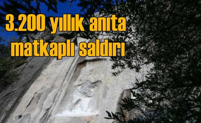 Defineci magandalar 3 bin 200 yıllık kabartmaları matkapla oydu