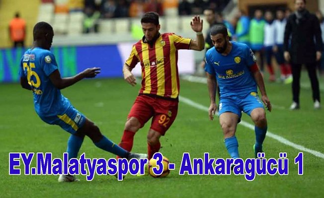Malatyaspor Ankaragücü'neşans tanımadı